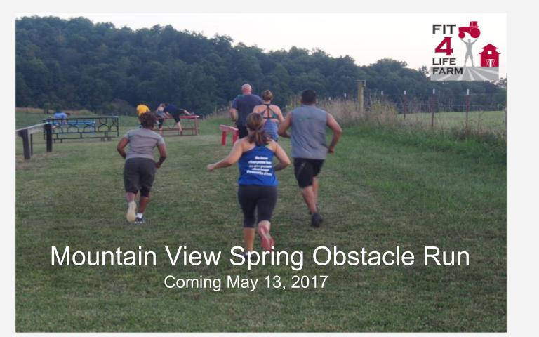 Spring Sprint Obstacle Run